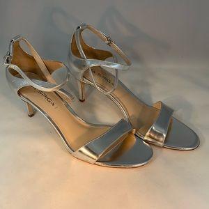 Via Spiga Mirror Silver Sandals